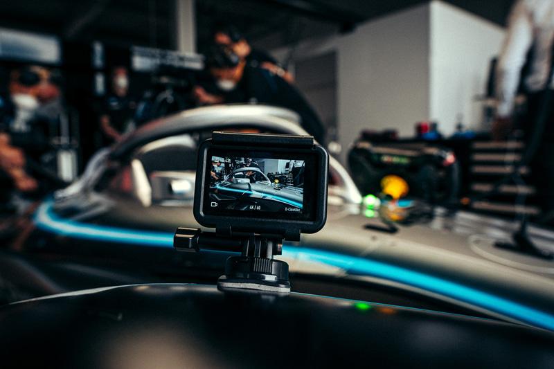 メルセデス・ベンツ EQフォーミュラEチームはすでにDJI Osmo ActionなどのDJI製品を使用しているという (C)Daimler AG