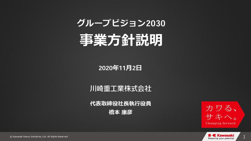 グループビジョン2030・事業⽅針説明会のスライド