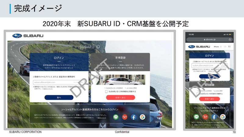 新SUBARU ID・CRM基盤