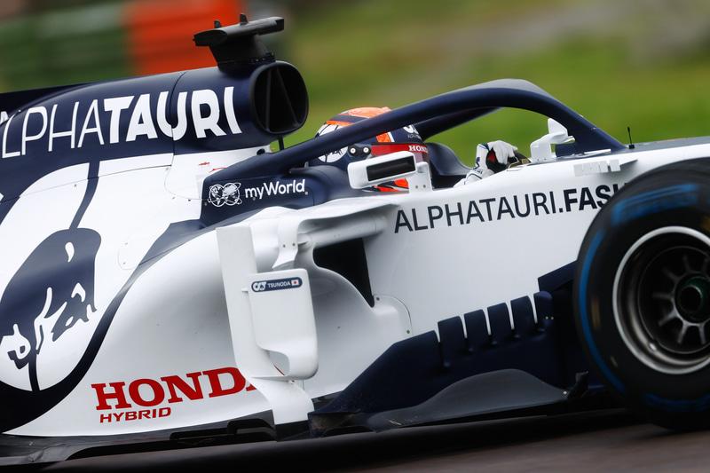 初めてのF1テスト走行を行なう角田裕毅選手 Photo:Honda