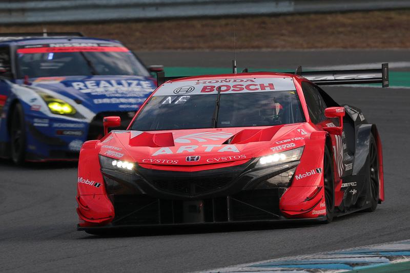 SUPER GT第7戦もてぎでGT500クラスを優勝した8号車 ARTA NSX-GT(野尻智紀/福住仁嶺組、BS)