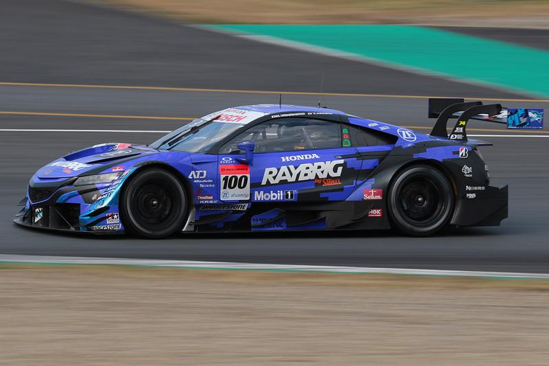 3位に入った100号車 RAYBRIG NSX-GT(山本尚貴/牧野任祐組、BS)