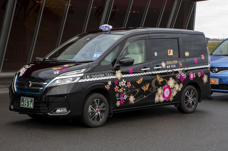 八洲自動車のセレナ タクシー