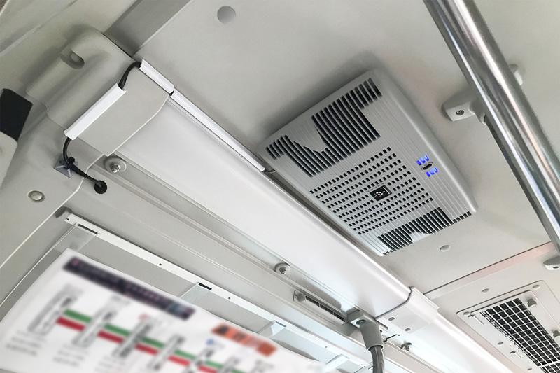 新型「バス用プラズマクラスターイオン発生機」