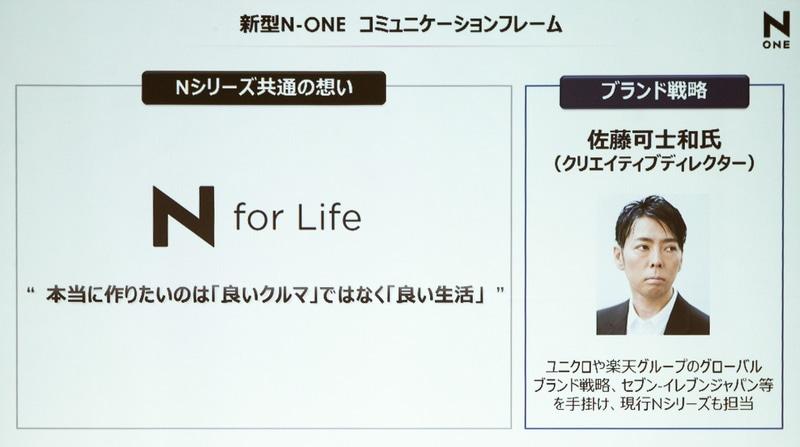新型N-ONE コミュニケーションフレーム