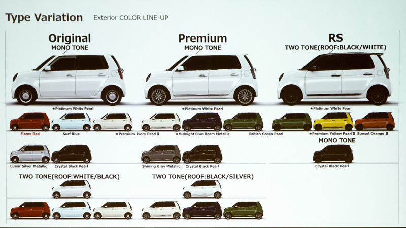 Type Variation エクステリアカラーラインアップ