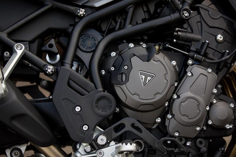 タイガー850スポーツ専用の3気筒エンジン