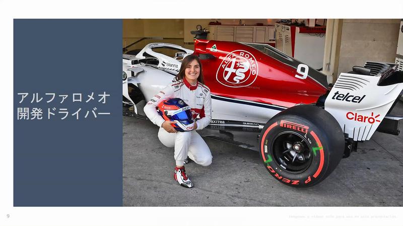 F1アルファロメオ・レーシングの開発ドライバーを務めるカルデロン選手