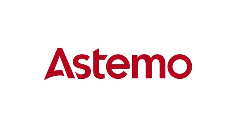 新会社「日立Astemo(アステモ)」ロゴ。AstemoはAdvanced Sustainable Technoligy for Mobility」の頭文字