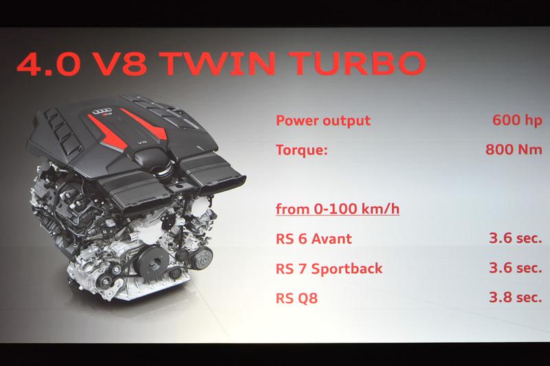 新導入するRSモデルに搭載される600馬力エンジン