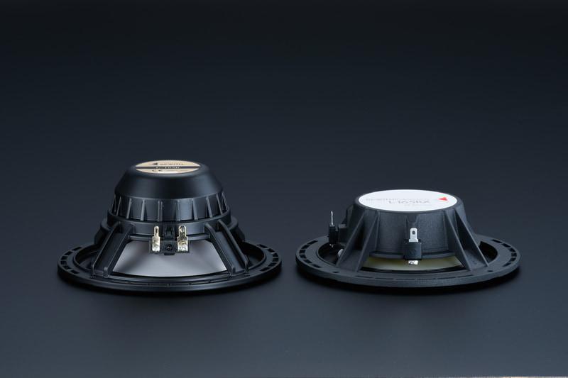 取付奥行寸法40mmを実現した超薄型高性能ウーファーを採用