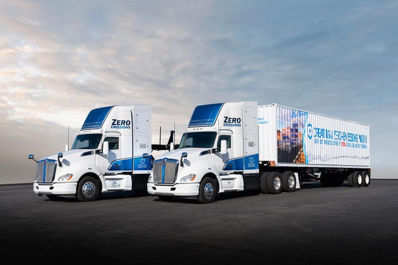 従来型の燃料電池大型商用トラック