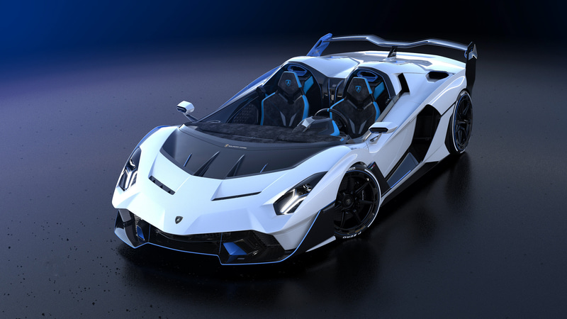 Bianco Fu(ホワイト)をベースにBlu Cepheus(ブルー)を組み合わせた特徴的なカラーリングを採用するSC20