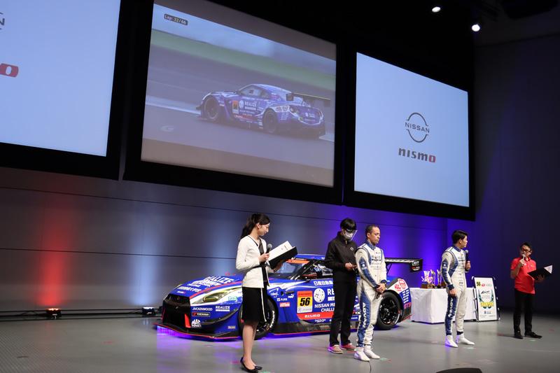 トークショーではスクリーンに投影したレース風景などの映像を交え、両選手と2020年シーズンについてふり返った