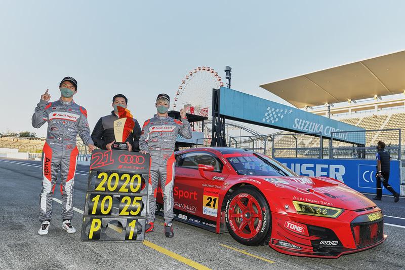 10月に鈴鹿サーキットで行なわれた2020 SUPER GT第6戦「SUZUKA GT 300km RACE」のGT300クラスで優勝を果たした#21 Audi Team Hitotsuyama(川端伸太朗/近藤翼組)
