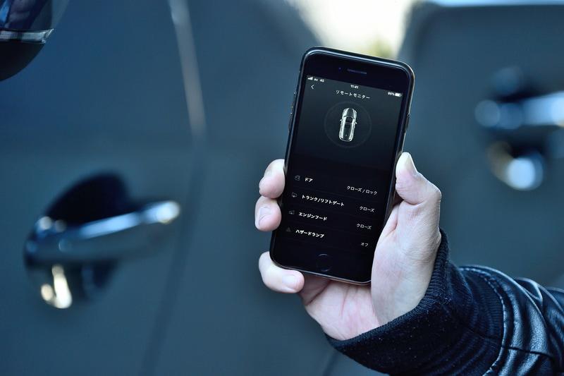 スマートフォンから鍵やハザードの操作などが行なえるようになった