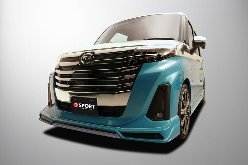 「トール カスタム」などの2020年9月マイナーチェンジ後モデルに対応する「フロントロワスカート」が登場(画像は東京オートサロン2021 ダイハツブース出展車両)