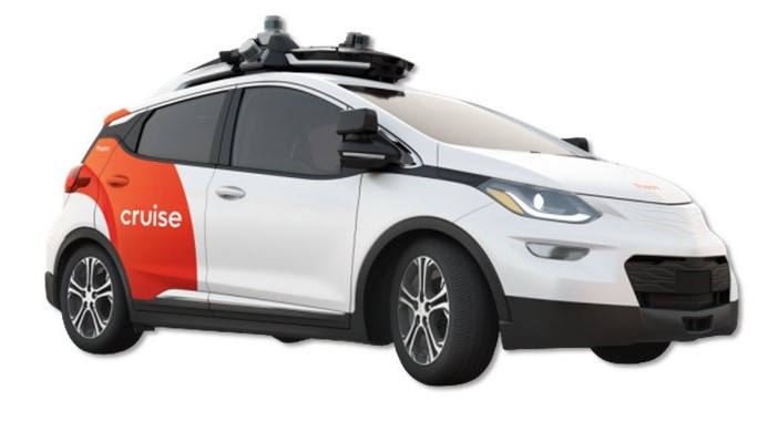 技術実証に用いるGMのBoltをベースとした自動運転車両クルーズAV