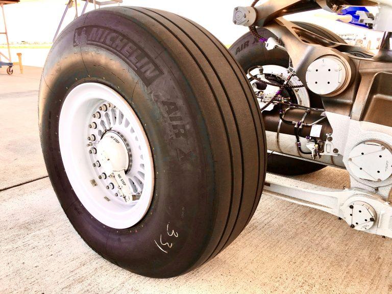 ミシュランの航空機用タイヤ
