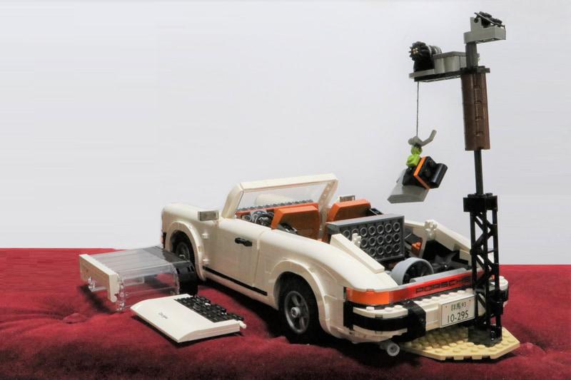 家にあったレゴを使ってエンジンハンガー的なのを演出してみました
