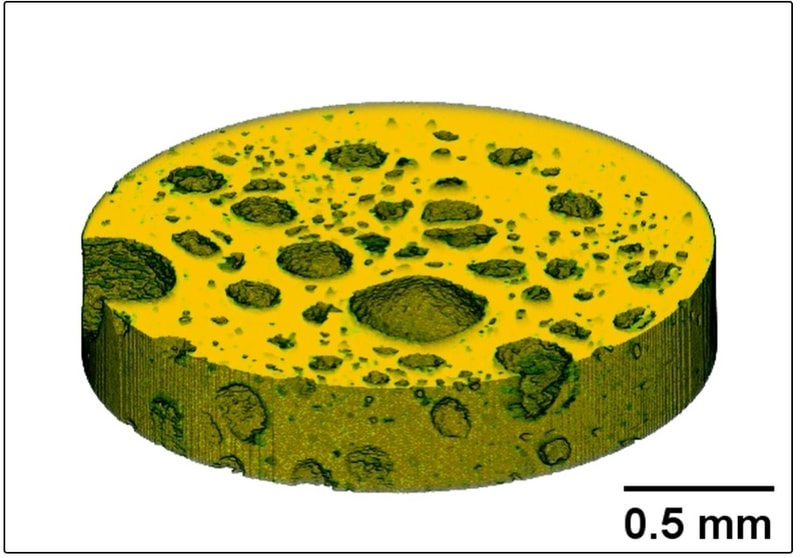 高速4D-CT法で観察されたゴムの破壊が進行する様子