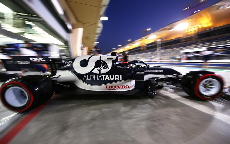 F1予選デビュー戦で予選13位となった角田裕毅選手(22号車 アルファタウリ・ホンダ) (C)Getty Images / Red Bull Content Pool