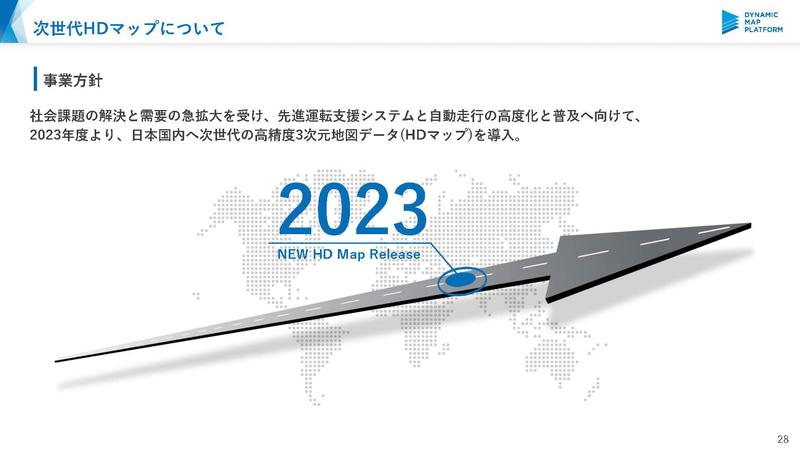次世代の高精度3次元地図データを2023年度から順次投入(出典:ダイナミックマップ基盤)