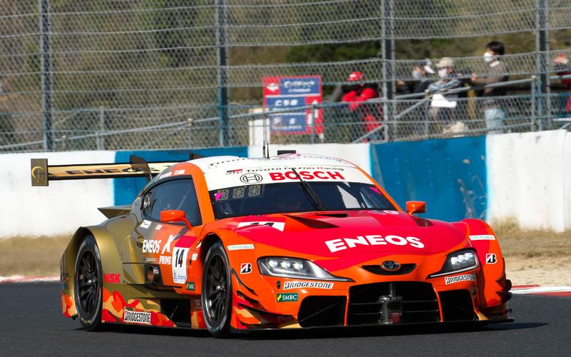 予選2位を獲得した14号車 ENEOS X PRIME GR Supra(大嶋和也/山下健太組、BS)