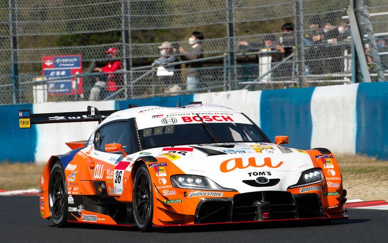 予選3位は、36号車 au TOM'S GR Supra(関口雄飛/坪井翔組、BS)