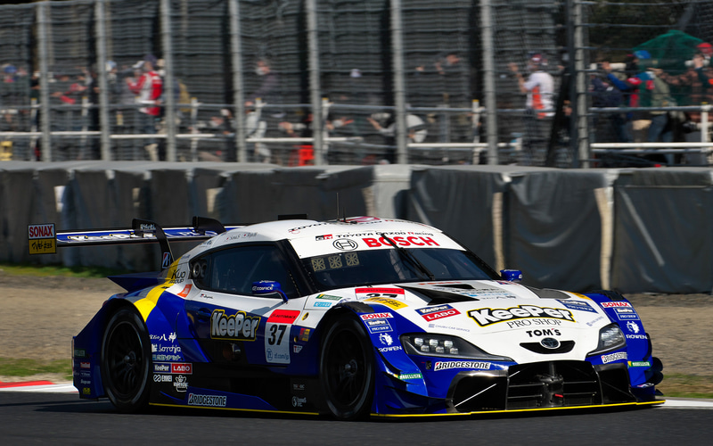 ポールポジションを獲得した37号車 KeePer TOM'S GR Supra(平川亮/阪口晴南組、BS)