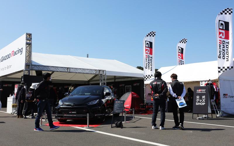 GR 86を展示するToyota Gazoo Racingブース
