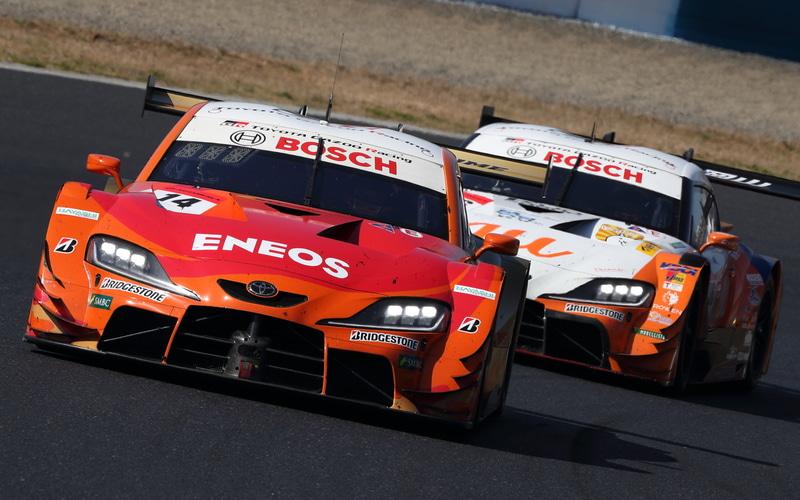 GT500を優勝した14号車 ENEOS X PRIME GR Supra(大嶋和也/山下健太組、BS)。ルーキーレーシングとして初優勝