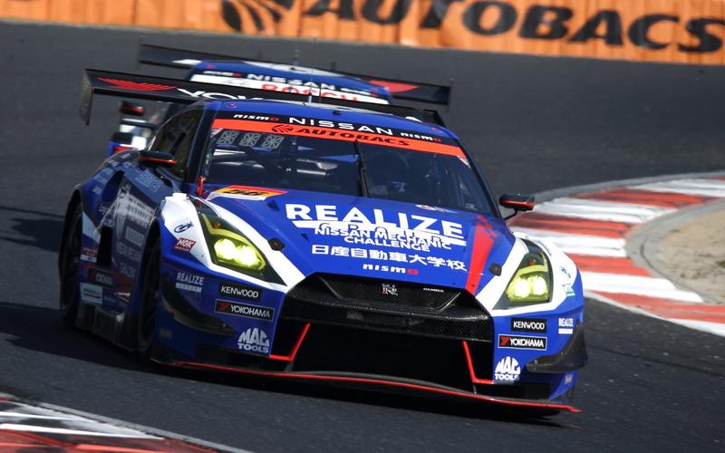 GT300を優勝した56号車 リアライズ日産自動車大学校 GT-R(藤波清斗/ジョアオ・パオロ・デ・オリベイラ、YH。2020年のチャンピオンマシン