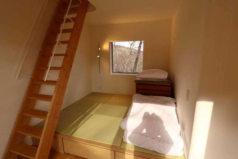 個室棟では1階が就寝場所になる