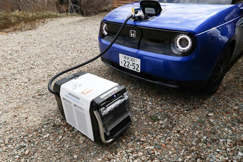 ホンダのV2L機器「Power Exporter 9000」をHonda eと接続