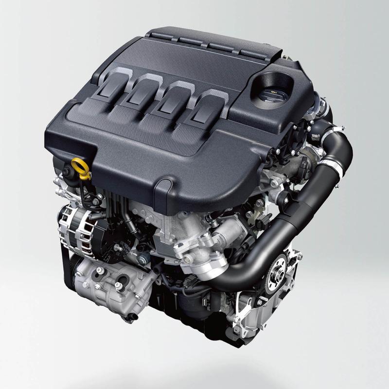 最高出力110kW(150PS)/5000-6000rpm、最大トルク250Nm(25.5kgfm)/1500-3500rpmを発生する直列4気筒DOHC 1.5リッターターボエンジン「1.5 TSI」