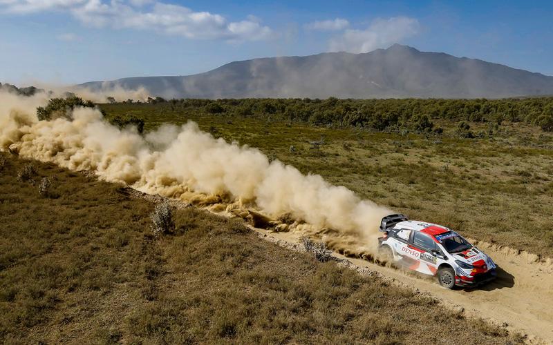 勝田貴元選手とダニエル・バリット選手の走り(ヤリス WRC 16号車)