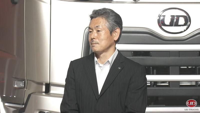 UDトラックス株式会社 開発部門 車両評価部 ダイレクターの越川英幸氏