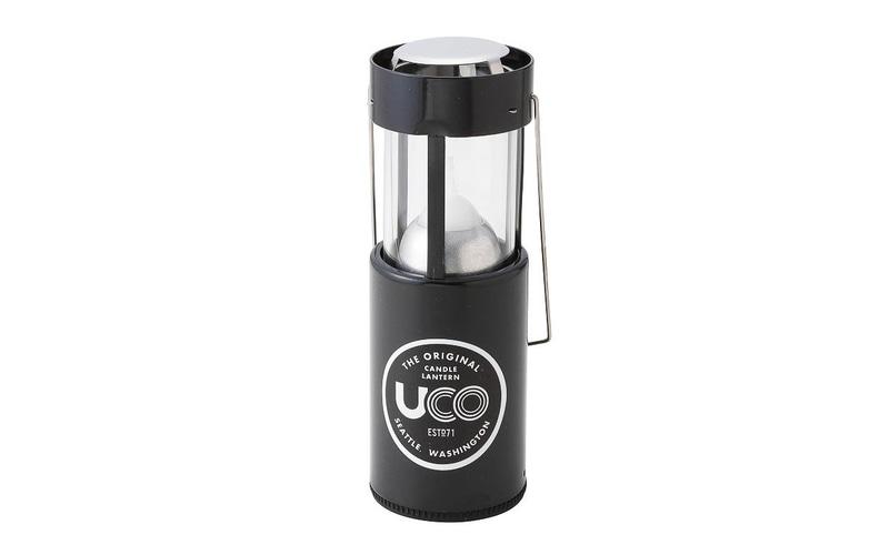 「UCO キャンドルランタン」。付属のキャンドル1本で9時間燃焼可能