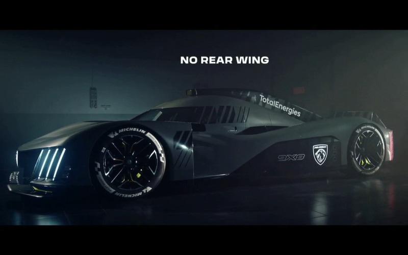 「NO REAR WING」(リアウイングなし)が印象的なプジョー 9X8を公開