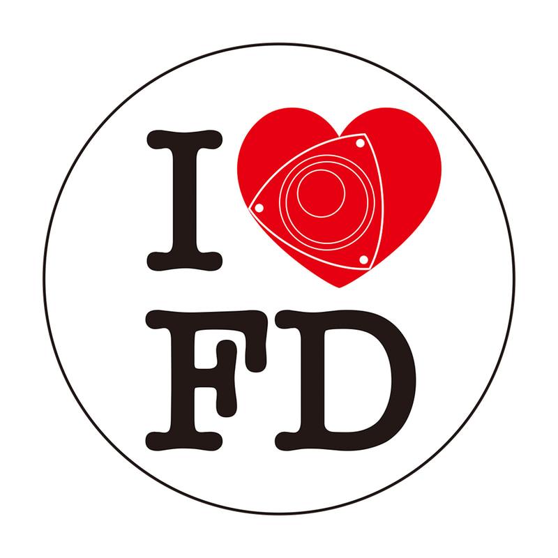 I LOVE FDステッカー
