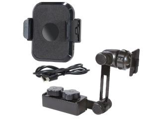 1DIN固定スタンドとスマホホルダー(ワイヤレス充電付)セット「BSA133」