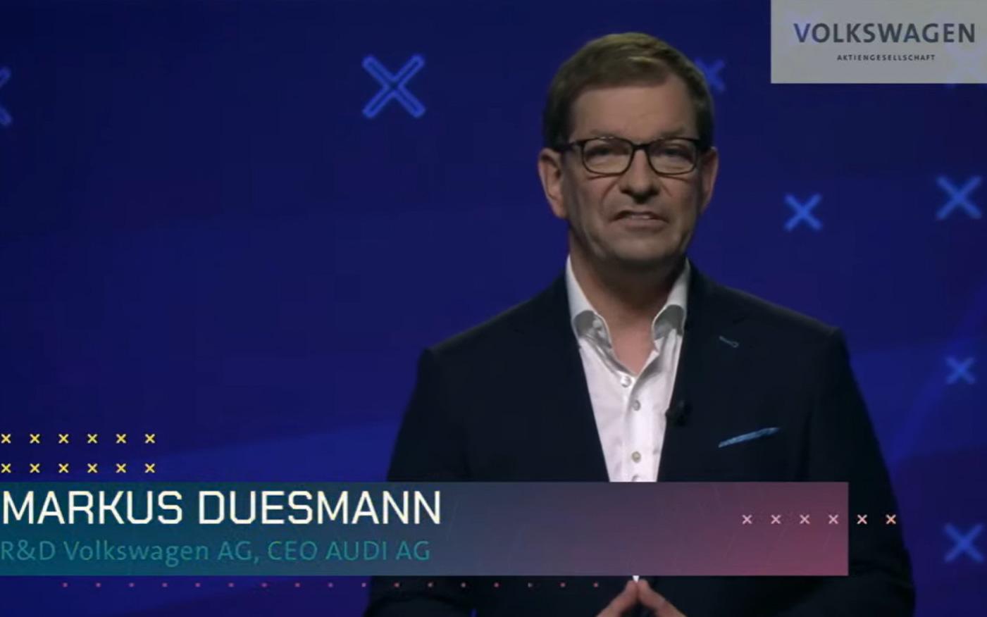 Audi AG CEO 兼 フォルクスワーゲン・グループ 研究開発責任者 マルクス・ドゥスマン氏