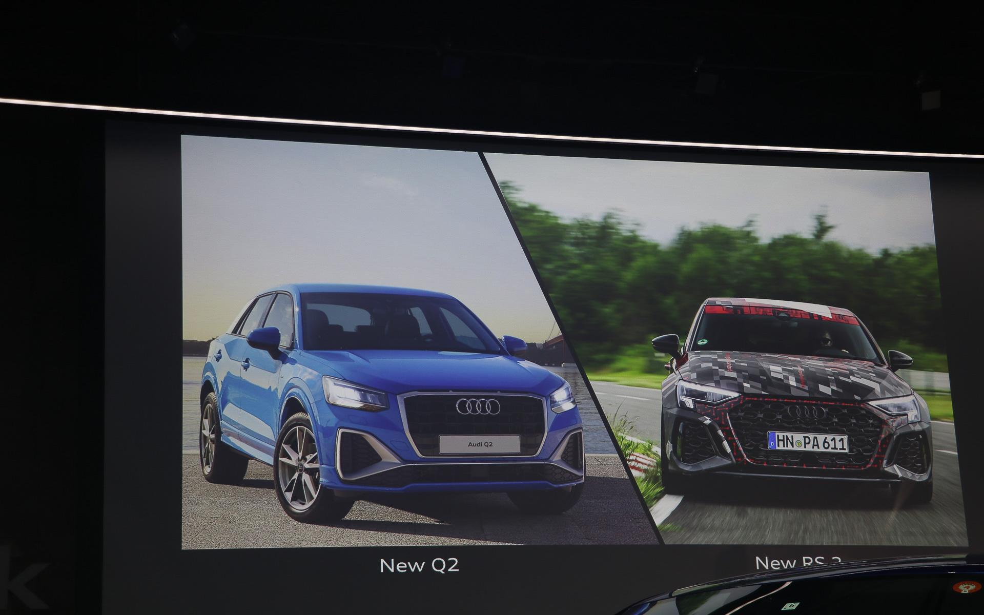 8月末からデリバリーが予定されている新型Q2と新型RS 3