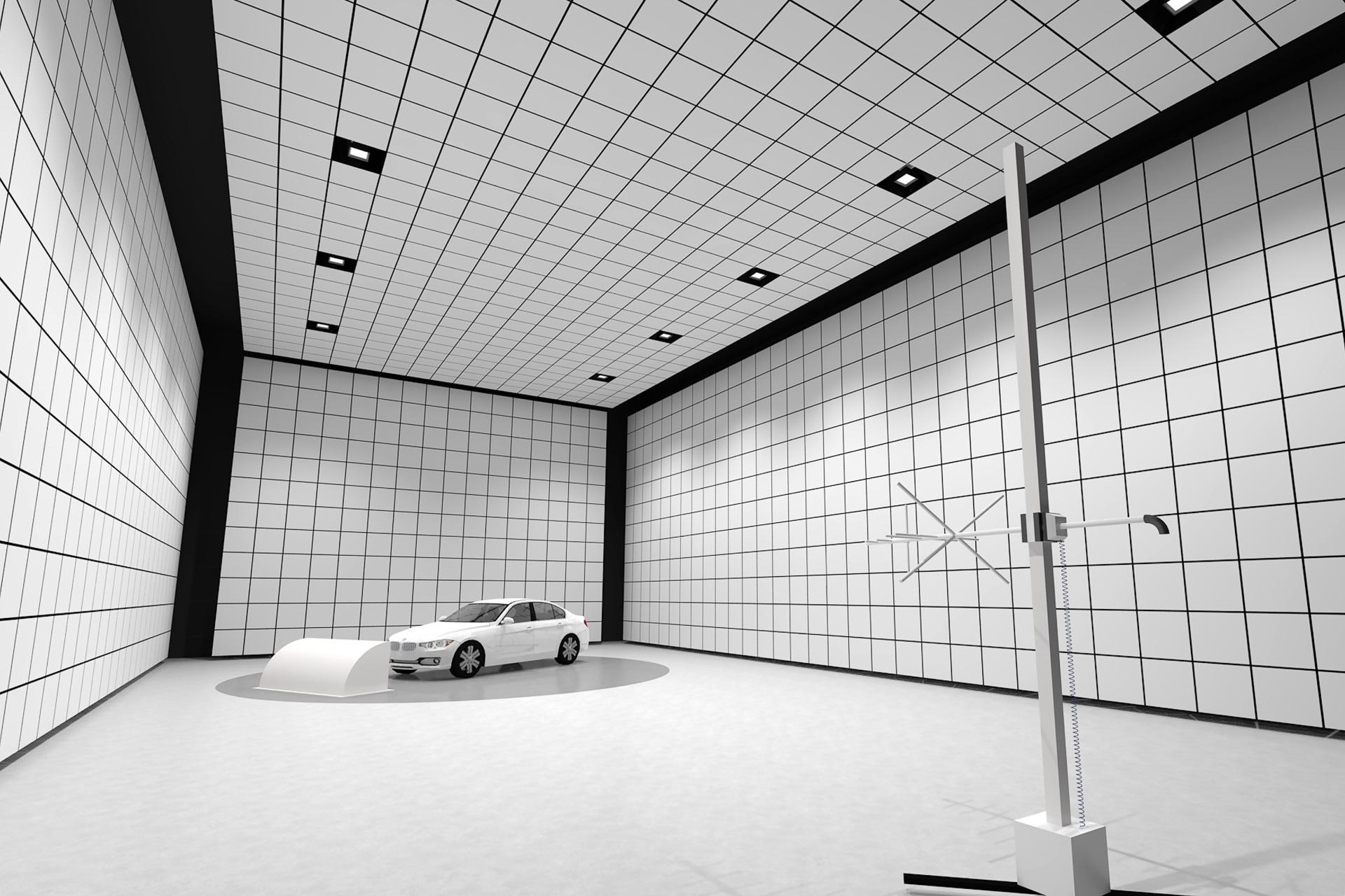 大型電波暗室の完成後イメージ