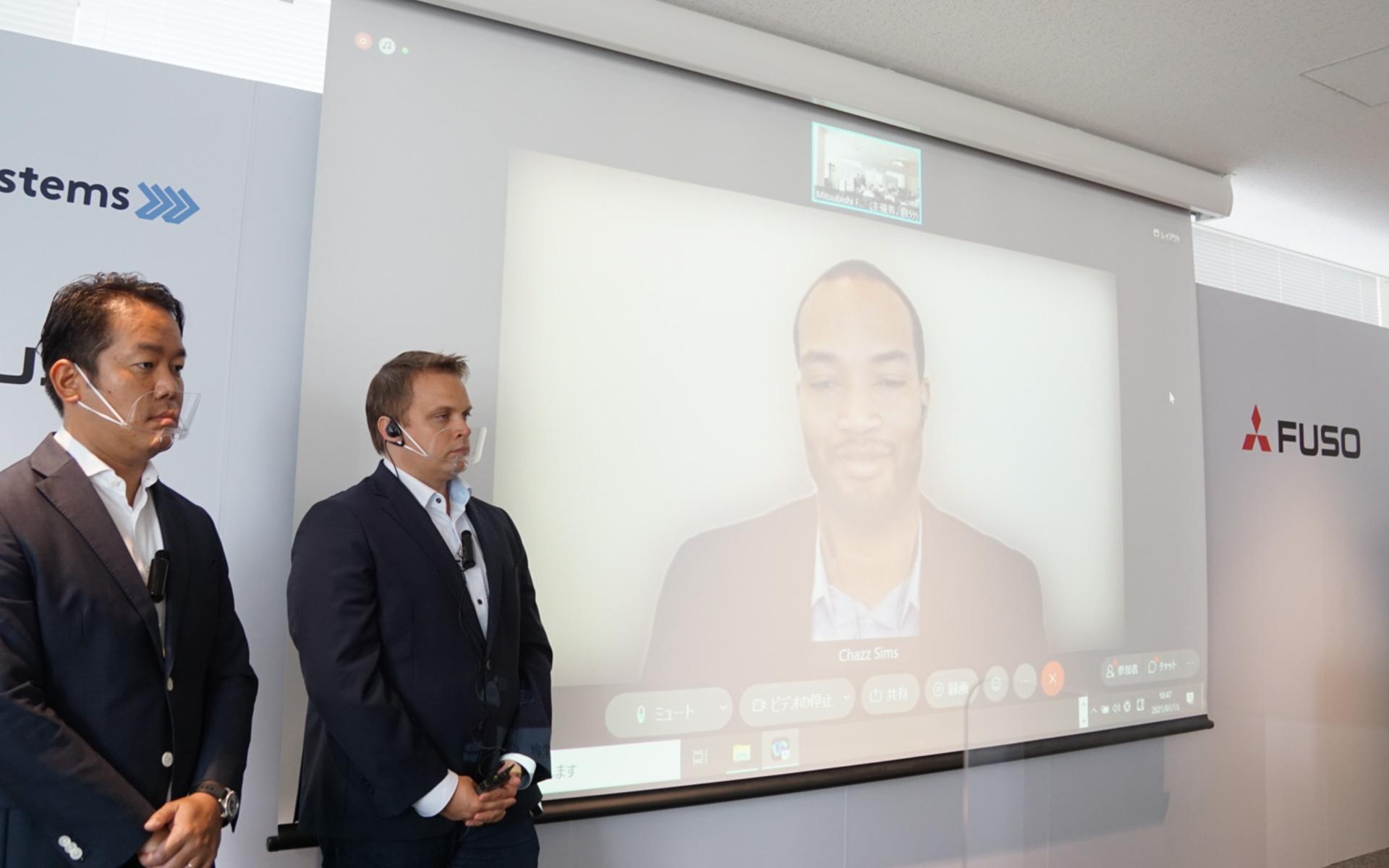 三菱ふそうと米Wise Systemsの業務提携記者発表会