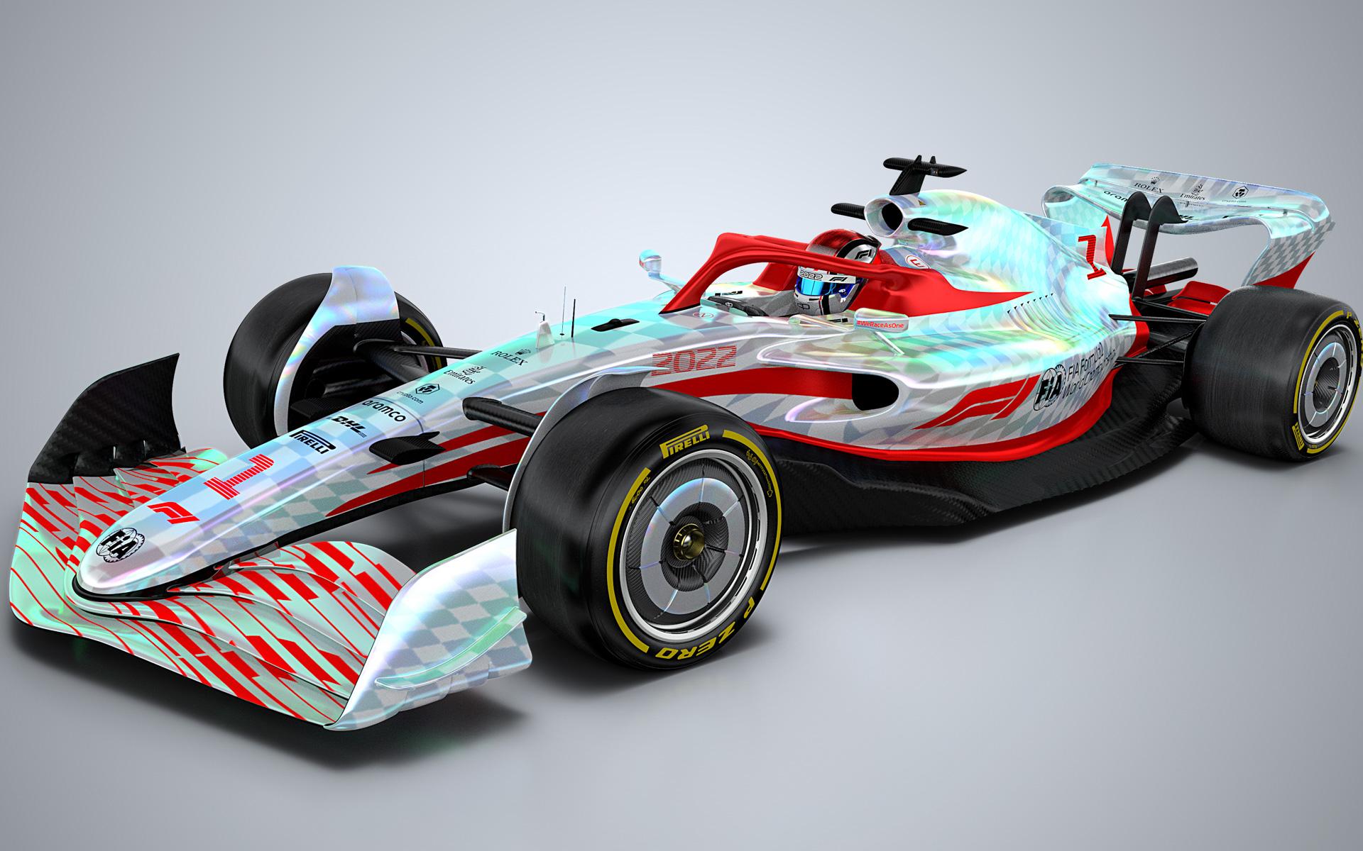 F1が公開した2022年規定のプロトタイプ車両