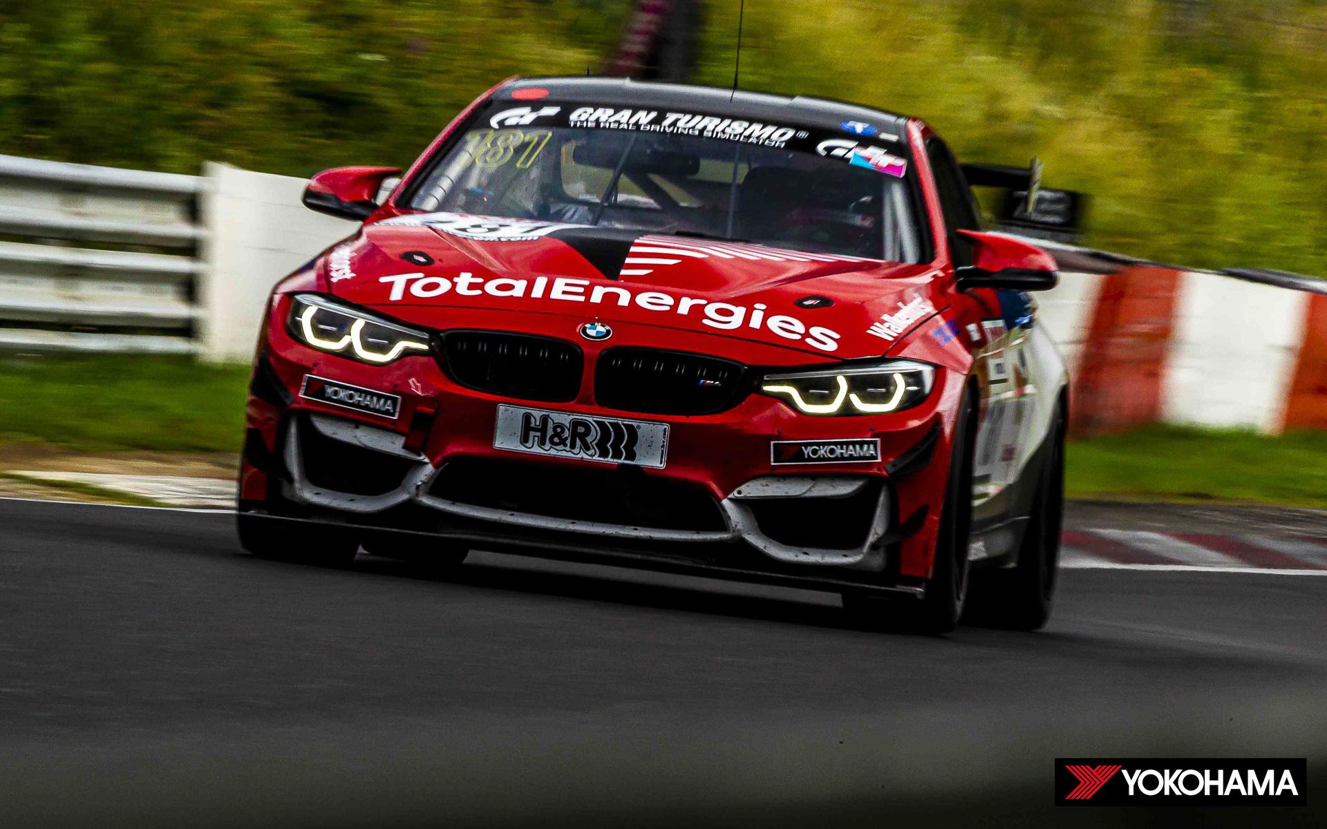 SP10クラスで2位の181号車「BMW M4 GT4」(Chandler Hull選手/Jonathan Miller選手)