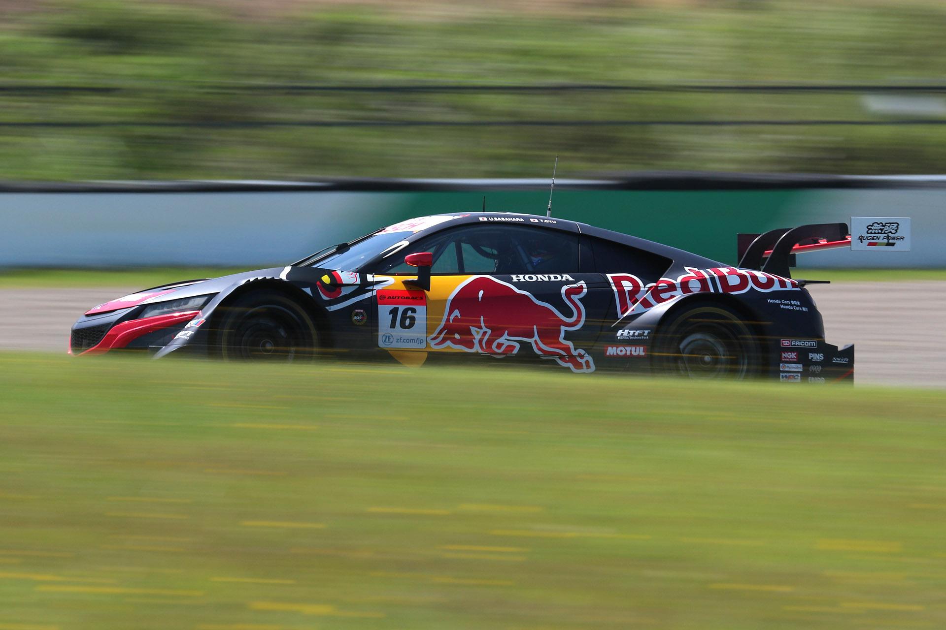 予選3位は16号車 Red Bull MOTUL MUGEN NSX-GT(笹原右京/大湯都史樹組、DL)