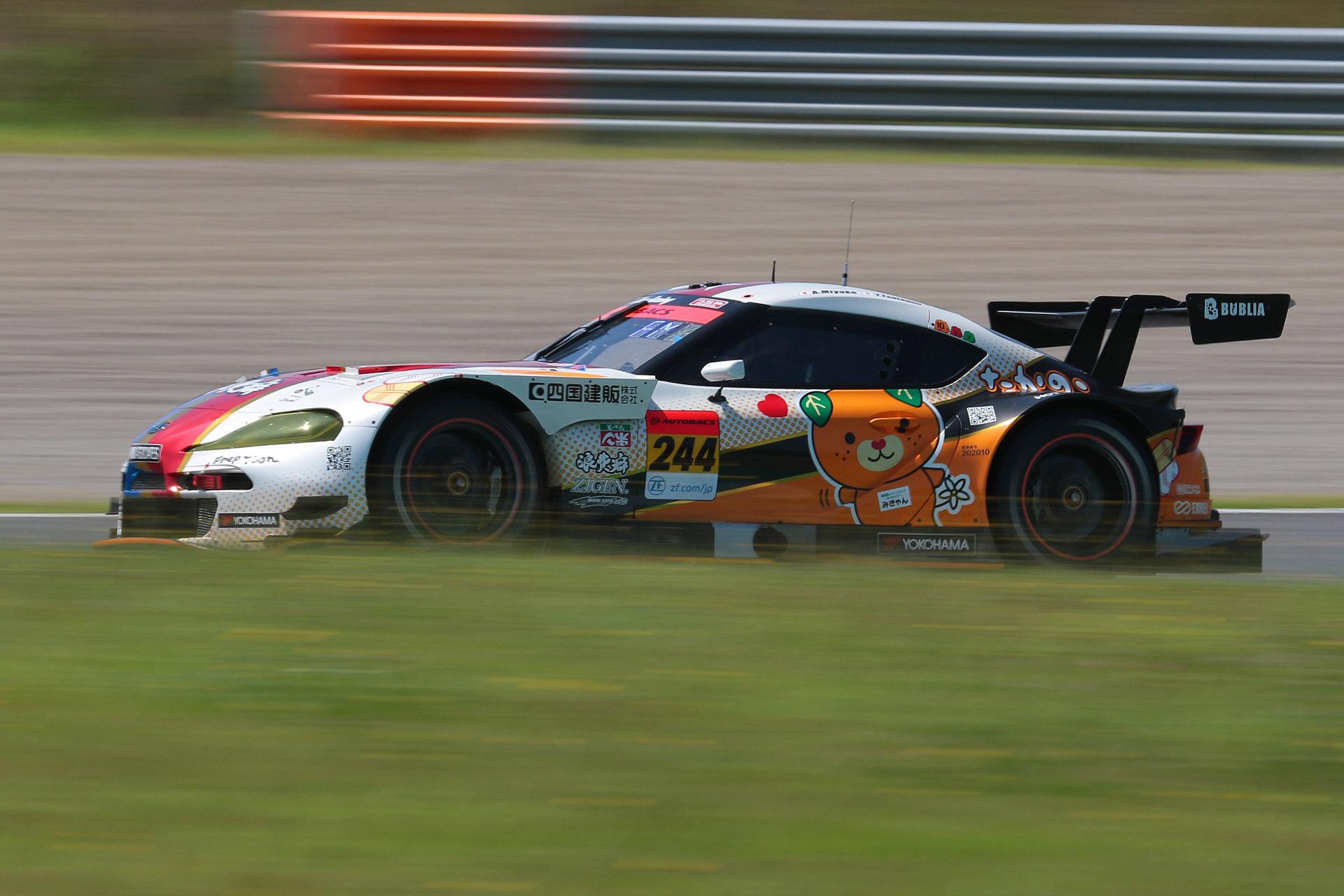 予選2位は244号車 たかのこの湯 GR Supra GT(三宅淳詞/堤優威組、YH)